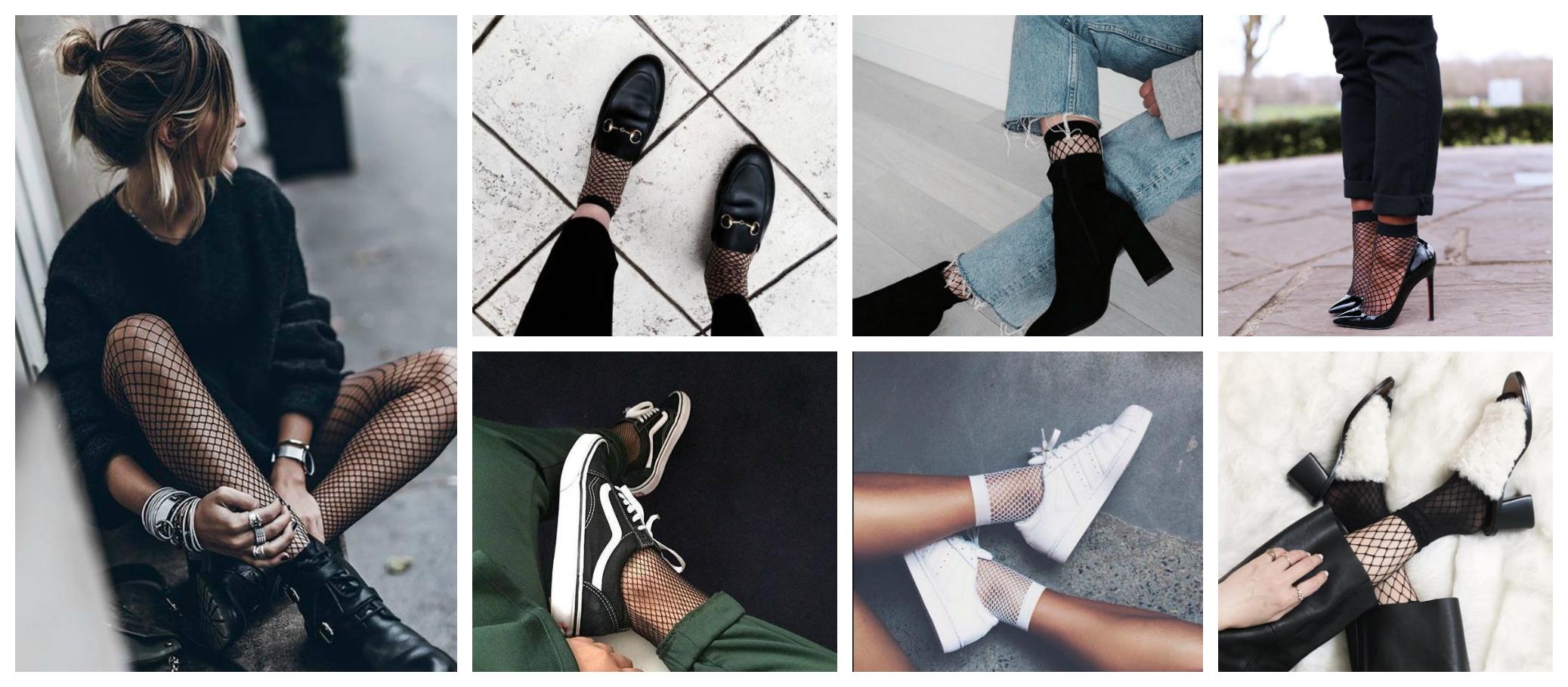 fishnet, howtowear, trend, biker boots, sneakers, adidas, loafers, heels, laars, socks, tights, blog