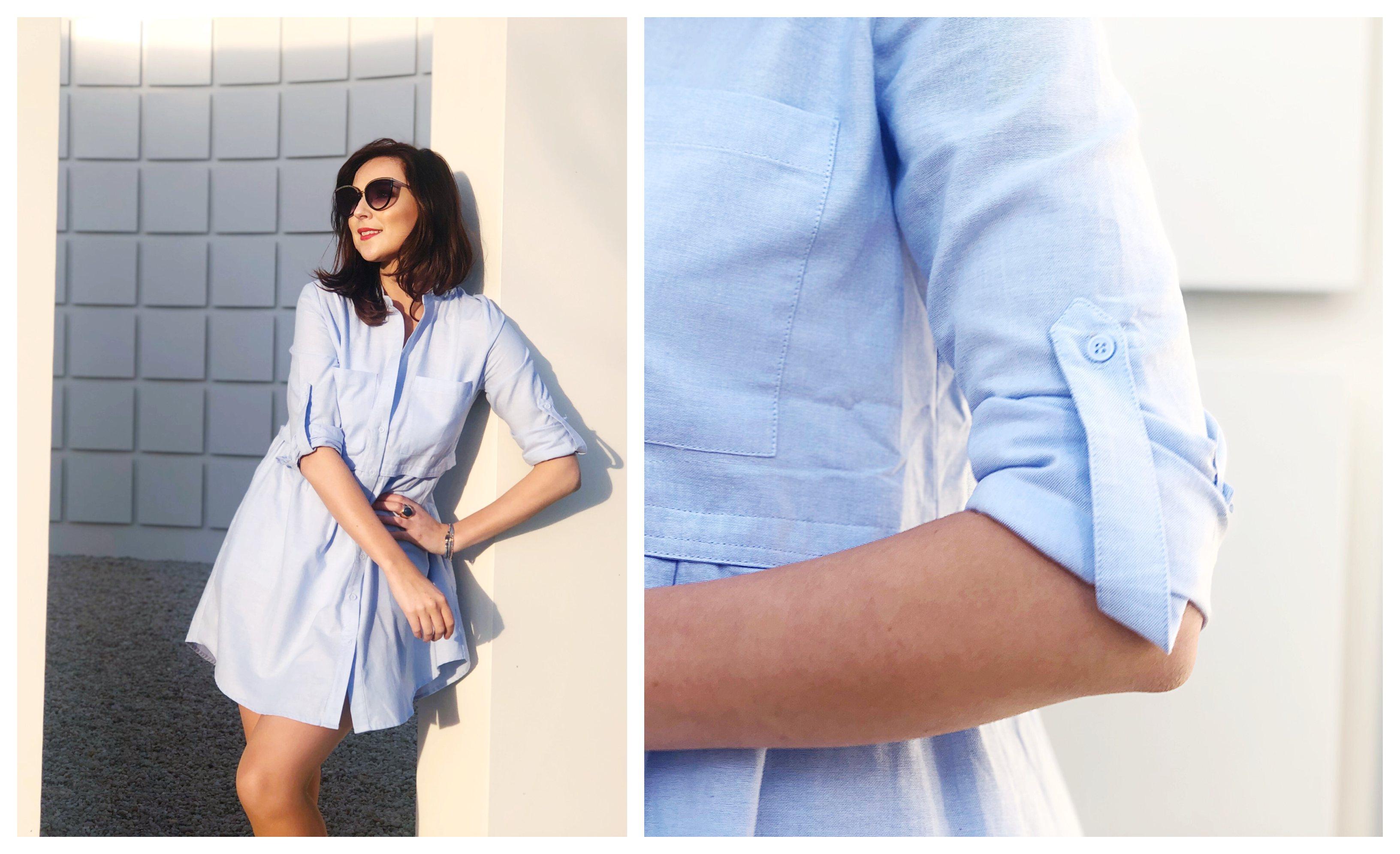 Licht Blauwe Jurk : Lentemode de luchtige jurk en off shoulder trui by laperla